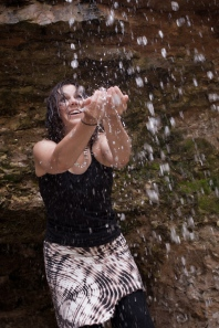 Lori catching water
