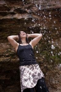 Lori & water overhead